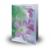 Effloresce Folded Memorial Card