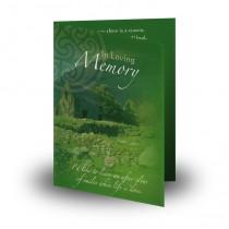 Irish Roots Folded Memorial Card