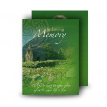 Irish Roots Standard Memorial Card