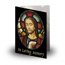 Stained Glass Our Lord Folded Memorial Card