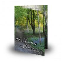 Lane Bluebells Castle Coole Co Fermanagh Folded Memorial Card