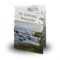 Lough Erne Shore Co Fermanagh Folded Memorial Card