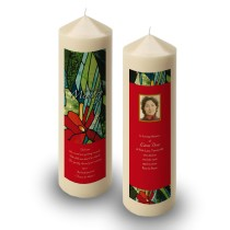 Stained Glass Flowers Candle