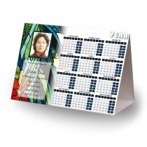 Stained Glass Flowers Calendar Tent