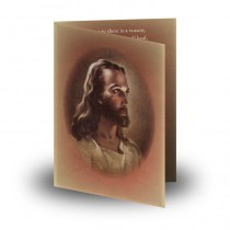 Image of Jesus Christ Folded Memorial Card