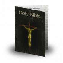 Holy Bible Folded Memorial Card