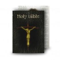 Holy Bible Standard Memorial Card