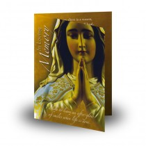 Our Lady At Prayer Folded Memorial Card