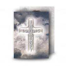 Cross Amid Clouds Standard Memorial Card