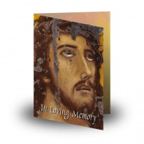 Crown of Thorns Folded Memorial Card