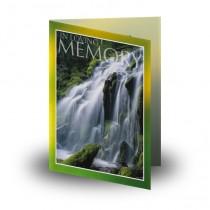 Flowing Cascade Folded Memorial Card