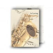 Saxophone Standard Memorial Card