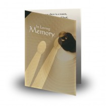 Rhythm Folded Memorial Card