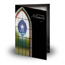 Stained Glass Window Folded Memorial Card