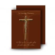 Wooden Cross Standard Memorial Card