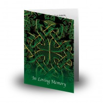 Celtic Tribal Folded Memorial Card