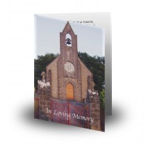 Church Bell Monea Co Fermanagh Folded Memorial Card