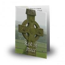 Irish Celtic Folded Memorial Card