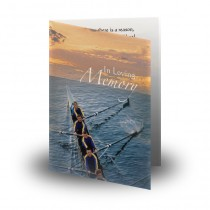 Rowing Folded Memorial Card