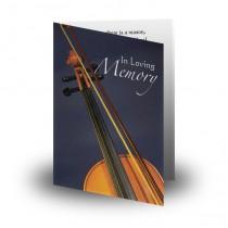 Violin Folded Memorial Card
