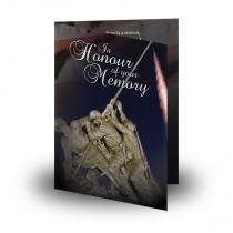 Freedom Folded Memorial Card