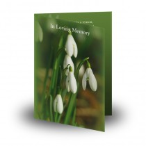 Snowdrops Folded Memorial Card