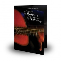 Acoustic Guitar Folded Memorial Card