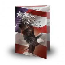 USA Eagle Folded Memorial Card