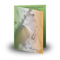 Irish Traditional Music Folded Memorial Card
