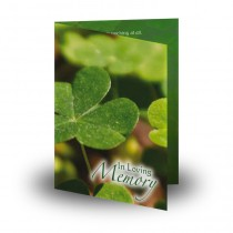 Irish Cluster of Shamrocks Folded Memorial Card