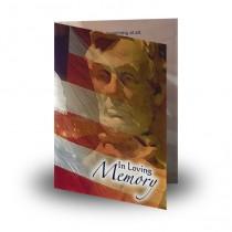 USA Memorial Folded Memorial Card
