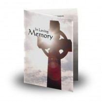Monumental Cross Folded Memorial Card