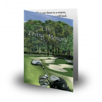 Golf Course Folded Memorial Card
