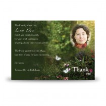 God's Heavenly Garden Acknowledgement Card