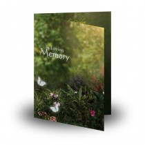 God's Heavenly Garden Folded Memorial Card