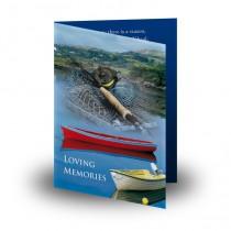 Fishing Folded Memorial Card