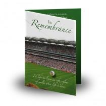 Gaelic Football Folded Memorial Card
