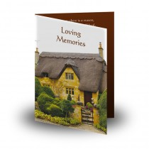 Thatched Cottage England Folded Memorial Card