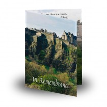 Edinburgh Castle Folded Memorial Card