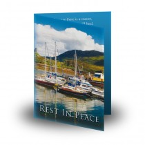 Quayside Boats Folded Memorial Card