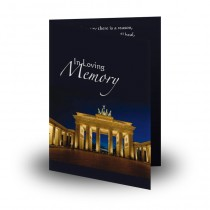 Brandenburg Gate Folded Memorial Card