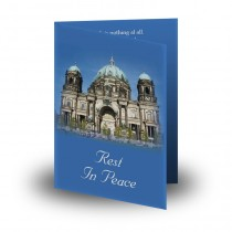 Berlin Cathedral Germany Folded Memorial Card