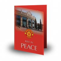 Old Trafford Manchester Folded Memorial Card