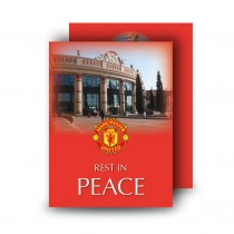 Old Trafford Manchester Standard Memorial Card