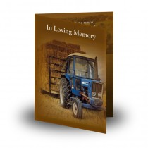 Hay Time Folded Memorial Card