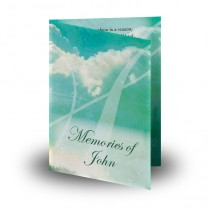 Classical Music Notes Folded Memorial Card