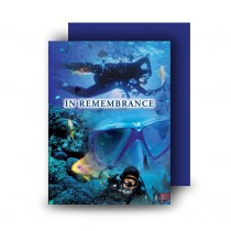 Scuba Diving Standard Memorial Card