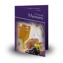 Communion and St Thomas Folded Memorial Card