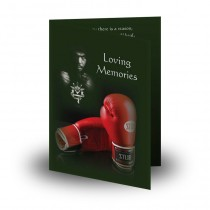 Boxing Folded Memorial Card