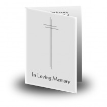 Black and white cross Folded Memorial Card
